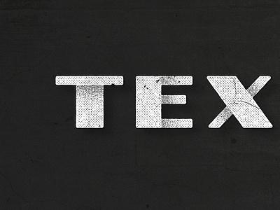 Texture Tank Logo typography grunge dirty feel pattern halftone concrete cracked shadows logo vintage white black texture rough
