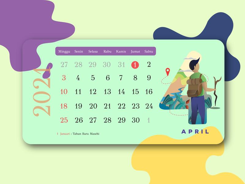 Calendar Design printing event date flat ui flat 2d illustration flat character flat design illustration design ui calendar design calendar