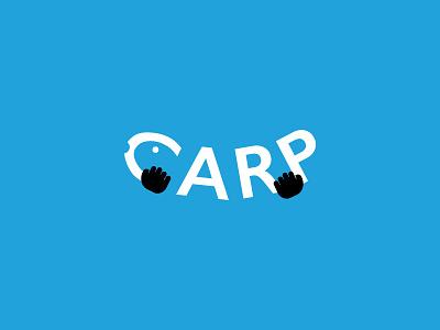 Carp sport animal fish blue app branding logo