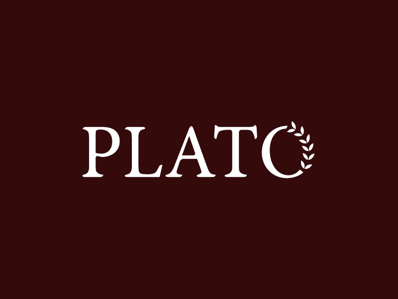 Plato  luxury philosophy greece greek branding logo plato