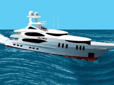 Luxury boat vector illustration vector design