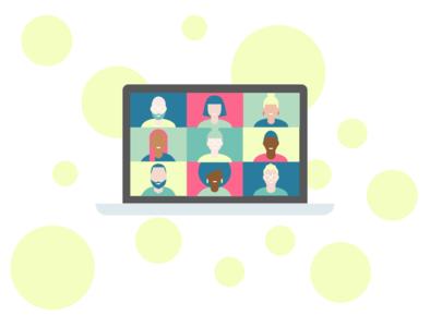 Video conference illustration figma design illustration app figma ux ui design