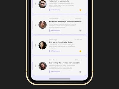 Email app - delete action designer design app xd design interaction design interaction delete email app uidesign uxdesign uxui ios app design application after effect animation ui ux app