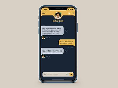 Chat app iphone iphone app xd design prototype animation prototyping prototype chat app uxdesign uidesign ux ui ios interaction design interaction app design app animation after effect