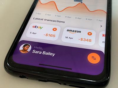 Finance app - menu interaction video device finance ui design ux design design prototype menu application app ux interaction ui ios interaction design animation