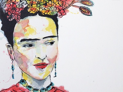 Frida  frida kahlo watercolor sketch