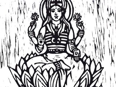 Goddess Woodcut  woodcut printmaking goddess