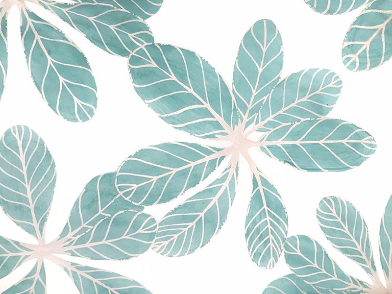 Leafy surface design textile design pattern