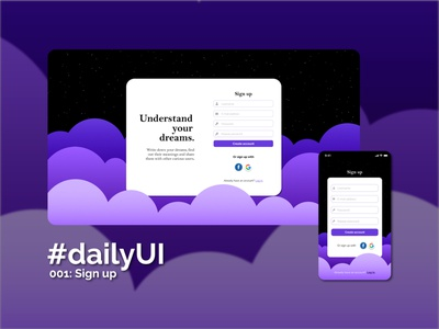 Daily UI #001 - Sign up figma app web ui design daily ui challenge signup sign up screen sign up page sign up form sign up ui sign up daily 001 daily ui dailyui 001 dailyuichallenge dailyui