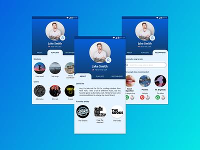 Daily UI #006 - User profile music music app user profile user profile 006 daily design daily ui app daily ui challenge dailyuichallenge dailyui ui figma