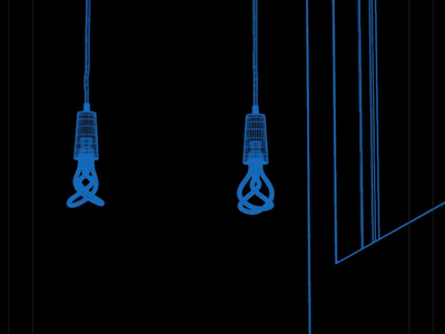 Light bulb wireframe