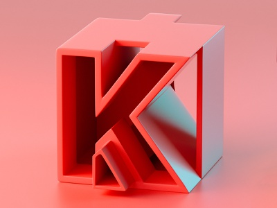 36DaysofType_K daily render c4d daily 36daysoftype everyday soy tico costa rica mrs. constancy cgi 3d