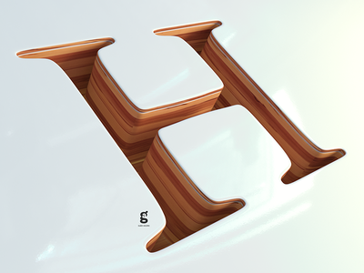 Day 51 -Mrs. Constancy - H - for 36 Days of Type h 36daysoftype soy tico costa rica mrs. constancy everyday daily cgi 3d