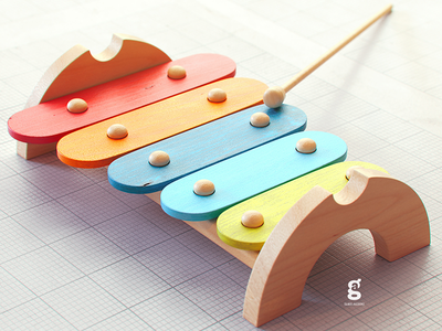 Day 82 - Mrs.Constancy - Xylophone wooden toy instrument xylophone music soy tico costa rica mrs. constancy everyday daily cgi 3d
