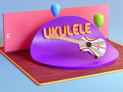 Day 84 - Mrs. Constancy - Ukulele music ukulele soy tico costa rica mrs. constancy everyday daily cgi 3d
