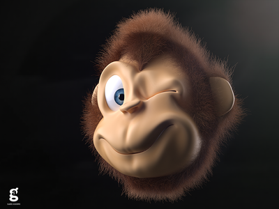 3D Monkey Experiment animal monkey soy tico costa rica mrs. constancy everyday daily cgi 3d