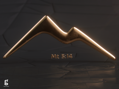 Day 94 - Mrs. Constancy -  Mt 5:14 gold mathew soy tico costa rica mrs. constancy everyday daily cgi 3d