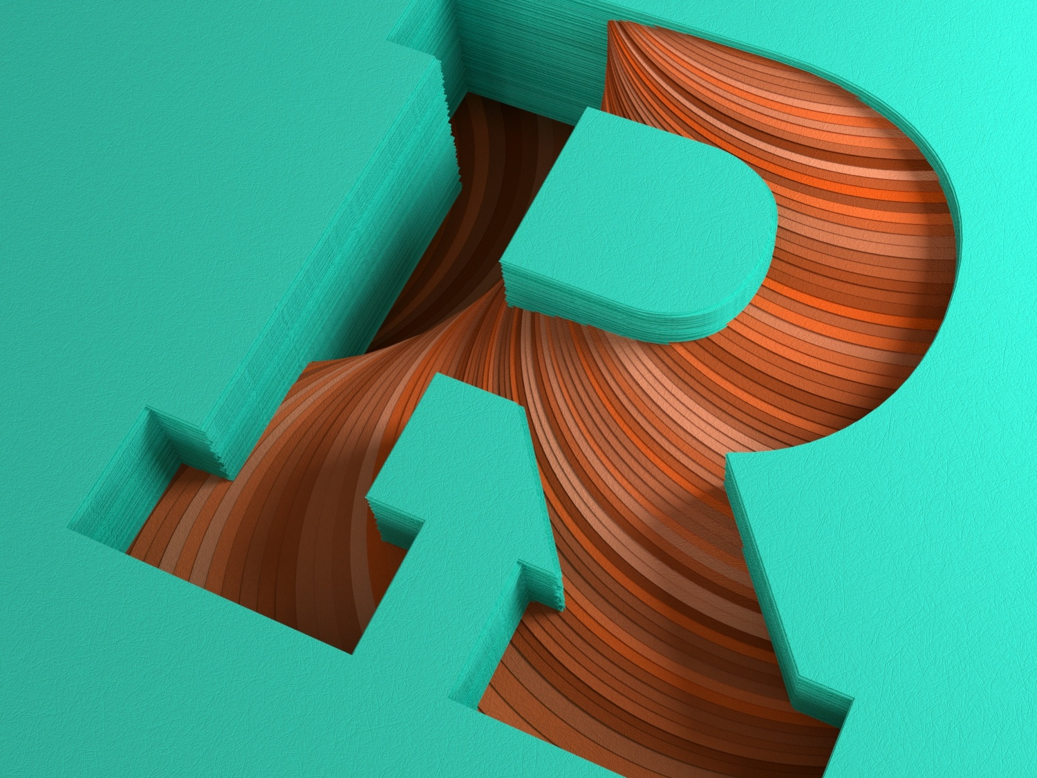 Paper R for 36 Days of Type 36daysoftype type daily render c4d everyday daily soy tico costa rica mrs. constancy cgi 3d