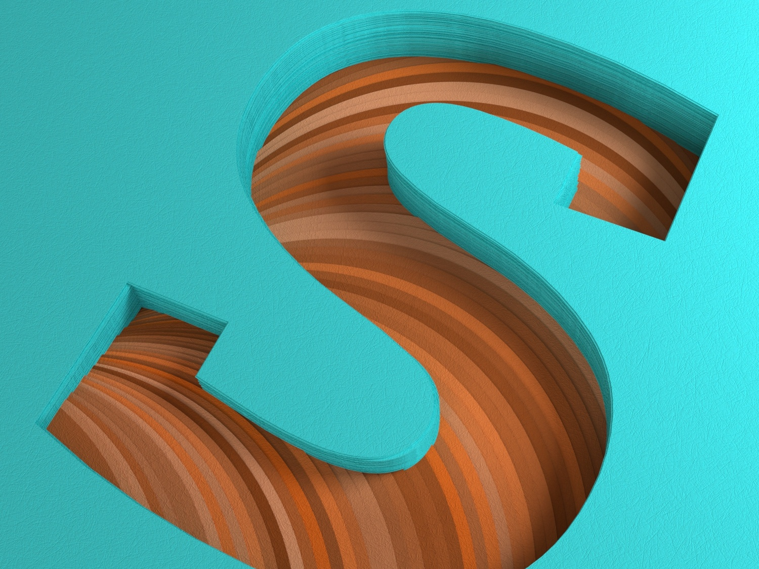 Paper S for 36 Days of Type 36daysoftype type daily render c4d everyday daily soy tico costa rica mrs. constancy cgi 3d