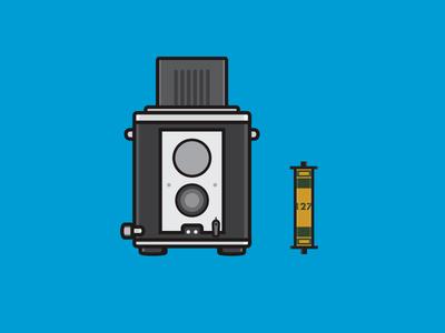 Kodak Brownie Reflex kodak brownie film photography flat camera