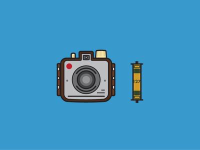 Kodak Brownie Holiday kodak brownie film photography flat camera