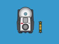 Kodak Brownie Bullet with a Flash