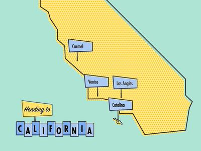 California Bound  across country venice beach venice carmel by the sea los angles santa catalina island trip california