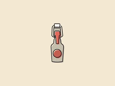 Kolsch Bottle  halftone bottle kolsch beer