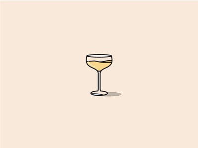Champagne Glass  glass champagne barware cocktail halftone flat