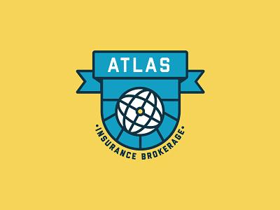 Atlas Insurance Brokerage 2 logo concept logo lockup flat design atlas