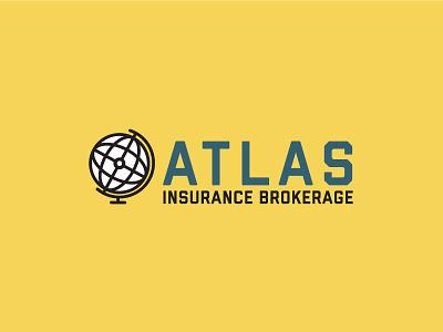 Atlas Insurance Brokerage 3 logo concept logo lockup flat design atlas
