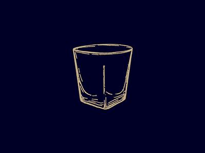 Rocks Glass retrosupply distillery mixology illustration whiskey cocktail rocks glass