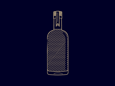 Whiskey Bottle woodcut bottle whiskey retrosupply mixology illustration distillery cocktail