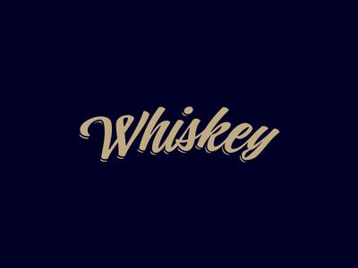 Whiskey typography type whiskey