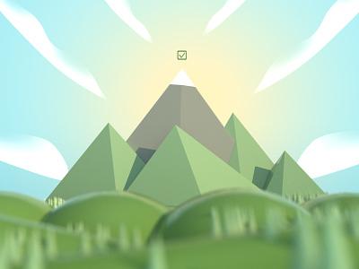 The Climb ⛰️✅ web icon branding ui illustration design