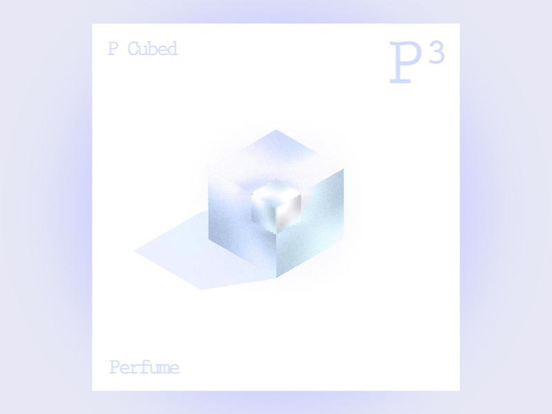 #9 p cubed by perfume 10x19 jpop album art 3d design 3d cinema 4d pastel
