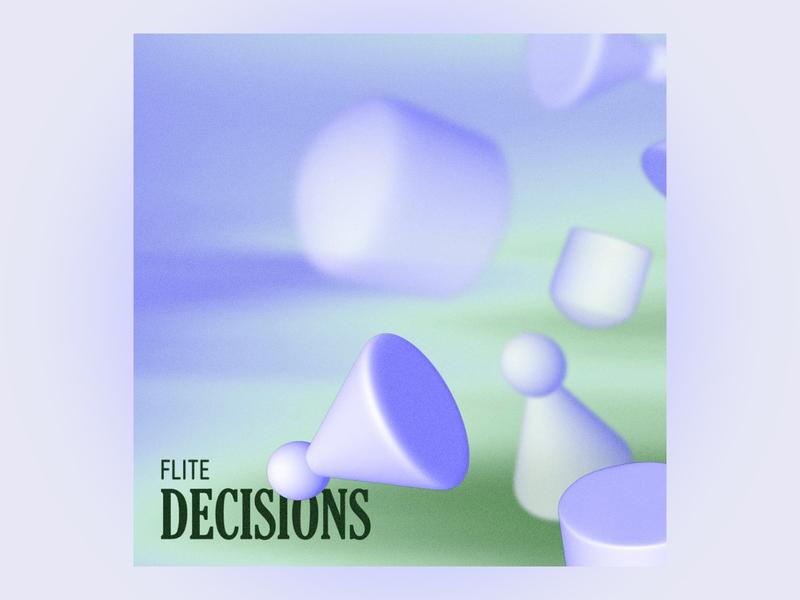 #2 decisions by flite 3d design cinema 4d 3d 10x19 album art pastel drum and bass