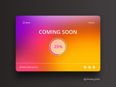 Design of page coming soon #DailyUI #day48 #048 gradient design gradient color deisgn interface coming soon page comingsoon website forms webdesign web dailyuichallenge dailyui ux ui design