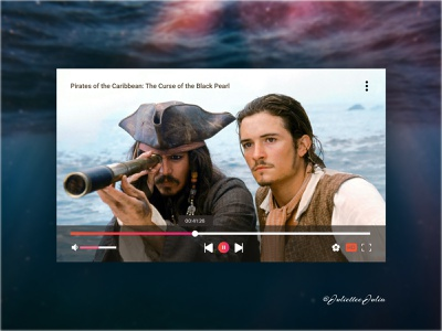 Design of the video player #DAILYUI #DAY57 #057 pirates of the caribbean forms web webdesign website video player dailyuichallenge 057 day57 dailyui ux ui design