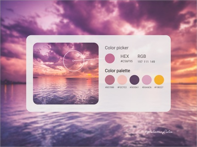 Color Picker design #DAILYUI #day60 #060 hex rgb picker color palette deisgn of color color picker colors 060 day60 webdesign web dailyuichallenge dailyui ux ui design