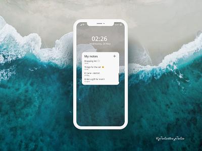 Design of notes widget #DailyUI #day65 #065 mobile interface mobile app widget notes widget 065 day65 forms webdesign web dailyuichallenge dailyui ux ui design