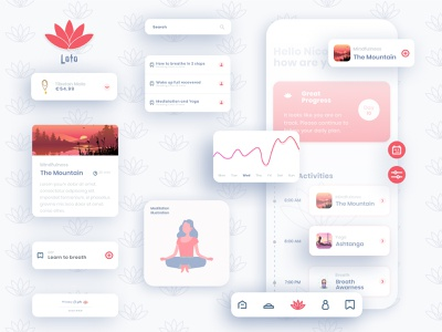 Loto Meditation App uxdesign uidesign minimal icon app logo ux ui
