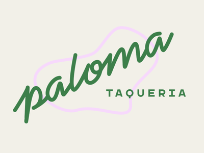 Another Paloma Hot Take vintage car bar tacos branding lettering illustration neon typography