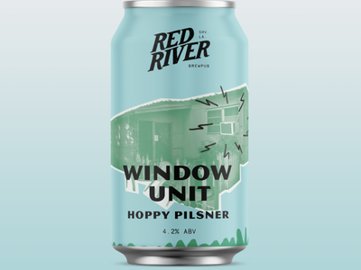 Red River Brewing Cans vintage branding cans packaging design packaging beer brewing illustration