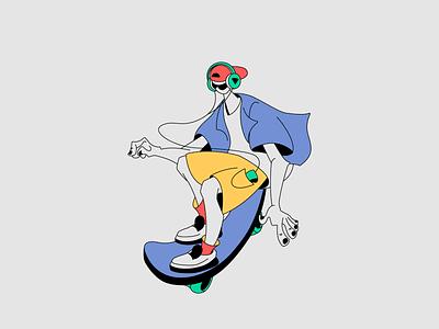 SKATE BOY2 skate characterdesign illustration graphicdesign dribbble