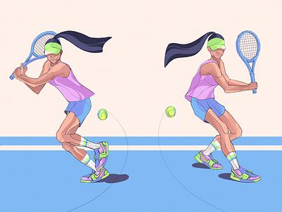 Tennis Girl🎾 vector characterdesign illustrator design illustration graphicdesign dribbble