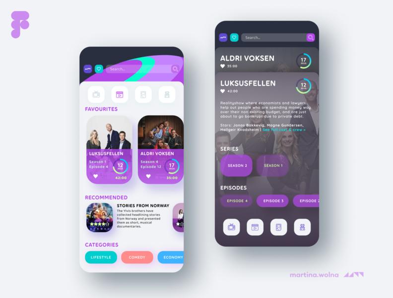 Telia TV UI design