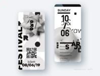 UI design new style app design figma soft illustration minimalist white black art monochrome mobile ui