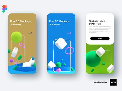 3D models - freebies figma trend sphere mockup download freebies free cube model 3d design mobile ui