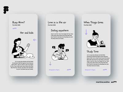 Onboarding with ilustrations black, white, gray gray phone onboard people app white black illustration minimalist figma design mobile ui